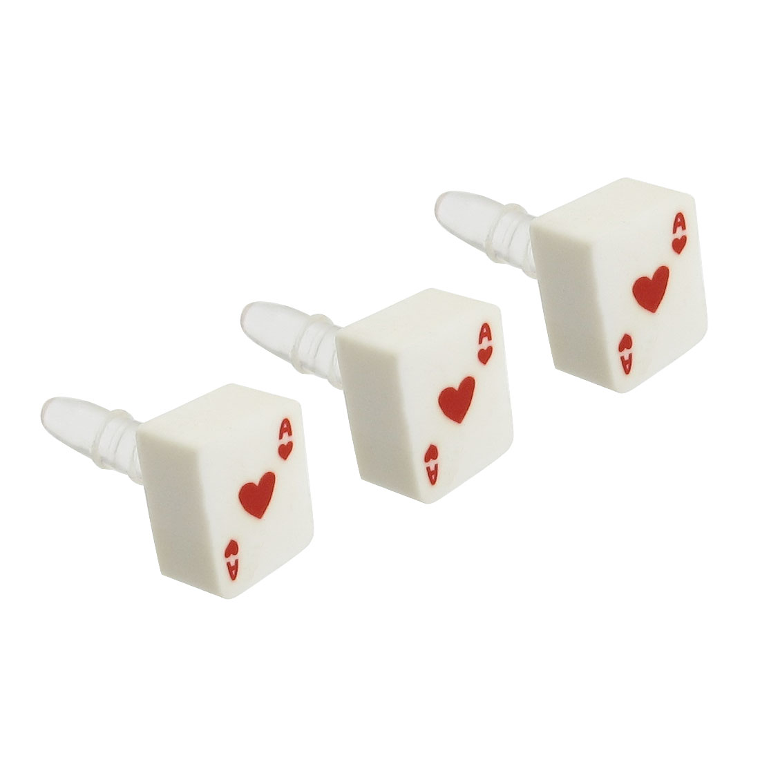 3 Pcs Plastic Poker 3.5mm Earphone Ear Cap Dust