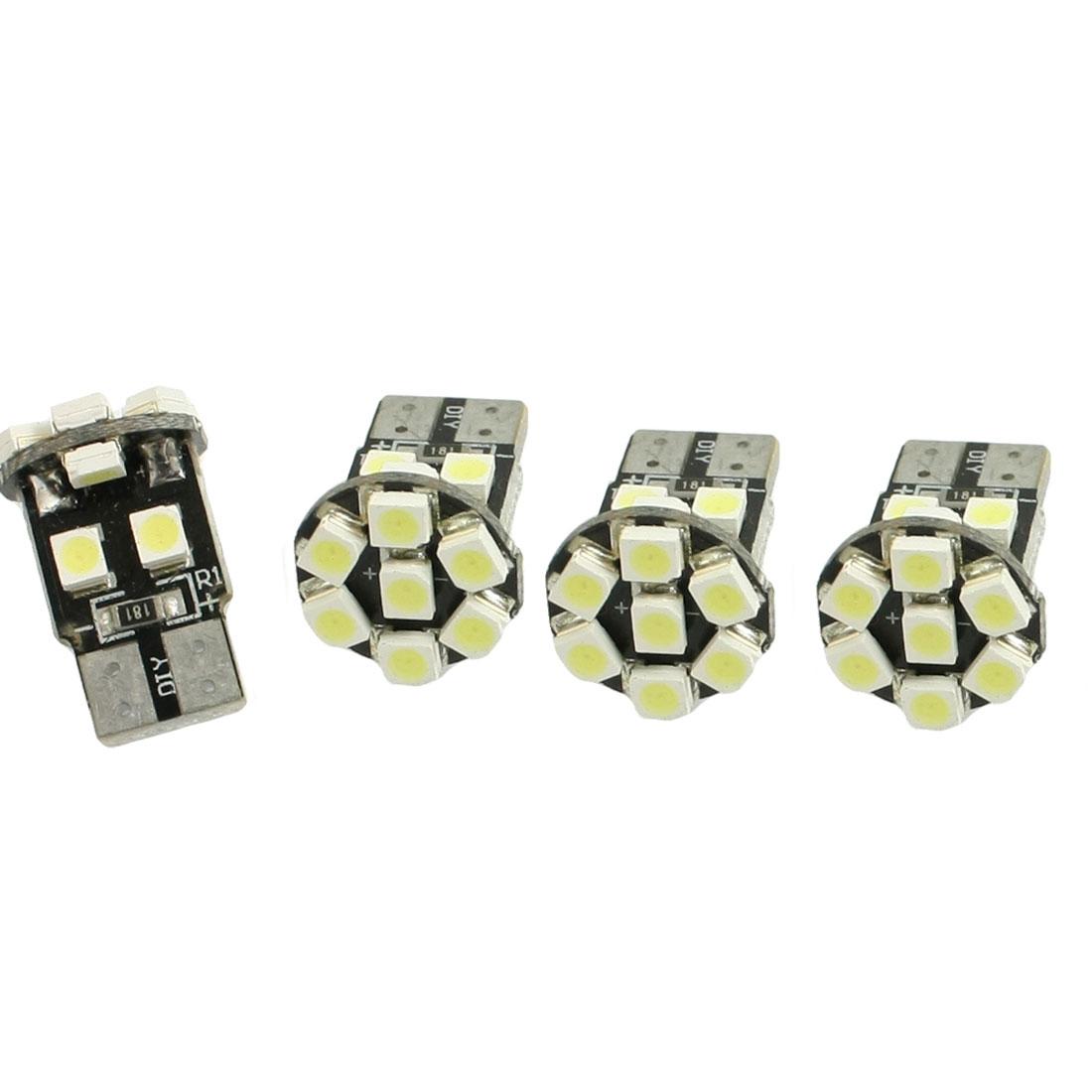 4 Pcs T10 White 1210 3528 13 SMD LED Car Side Wedge Light Lamp