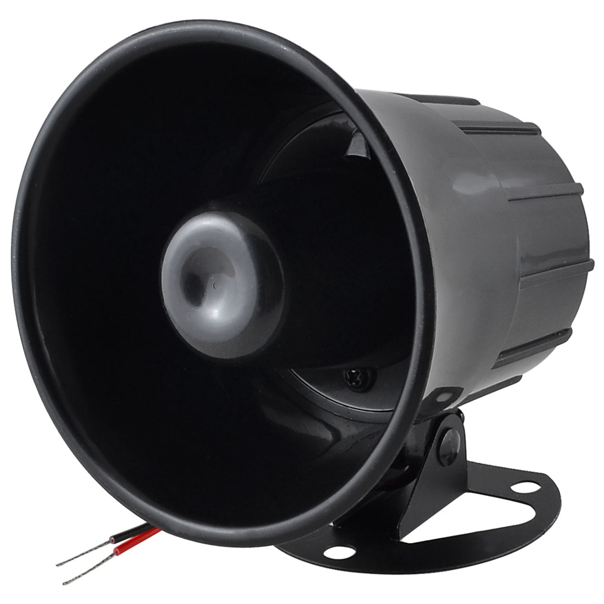 DC 12V 15W Replacement One Tone Car Security Alarm Siren Horn Black