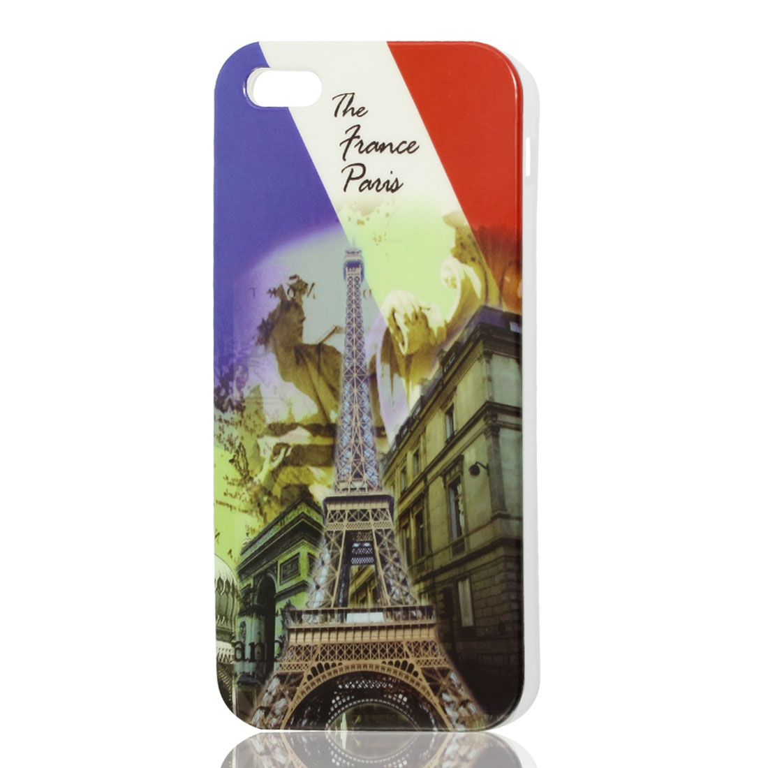 Colorful Building Eiffel Tower Pattern TPU Soft Case Cover for iPhone 5 5G