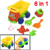 Gift 6 in 1 Colorful Plastic Sand Rake Shovel Truck Car Toy