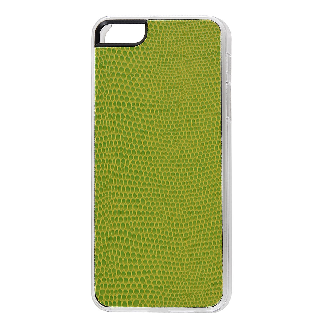 Light Green Faux Leather Snake Pattern Hard Back Case Cover Skin for Apple iPhone 5 5G