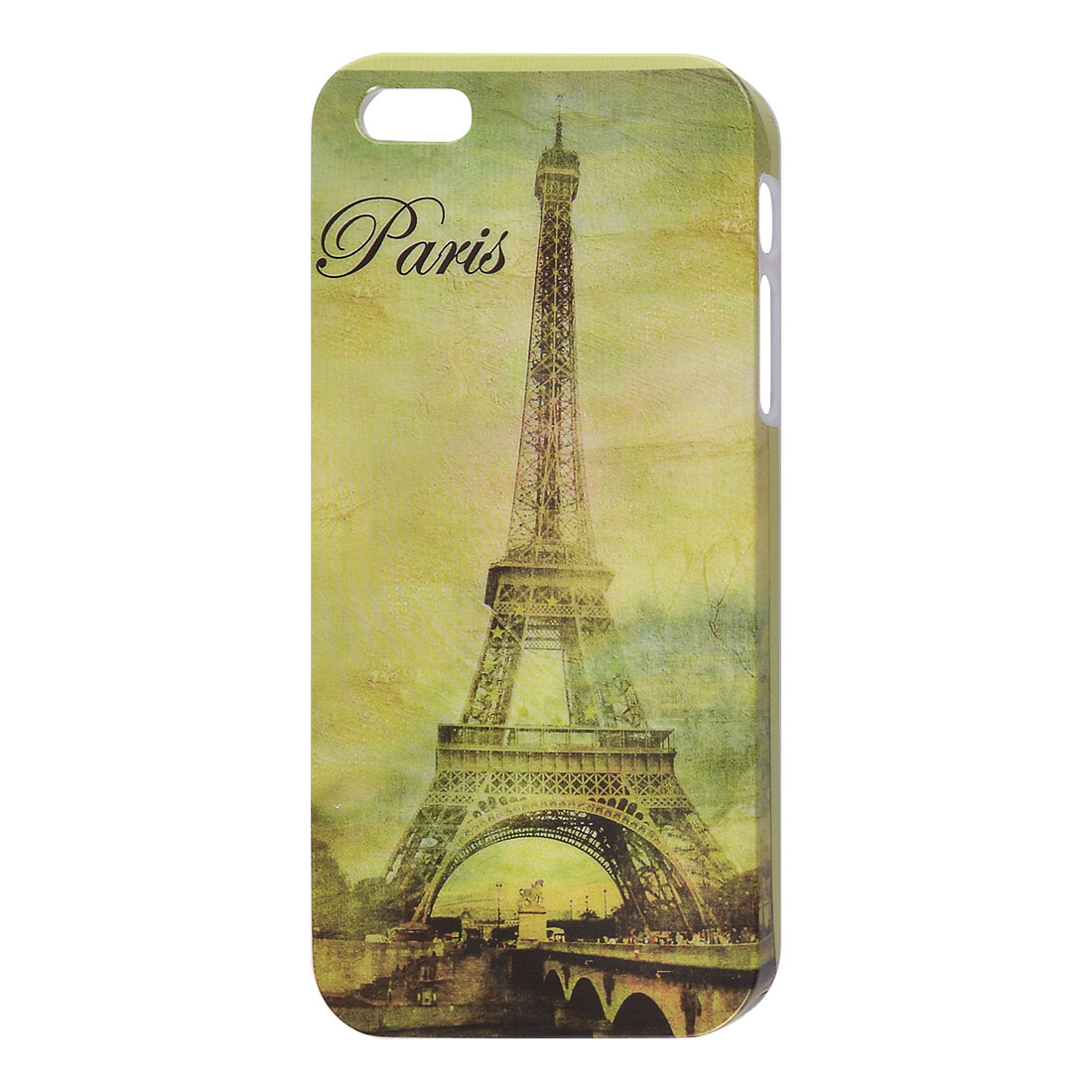 Paris Eiffel Tower Design Pale Green IMD Hard Back Case Cover for Apple iPhone 5 5G
