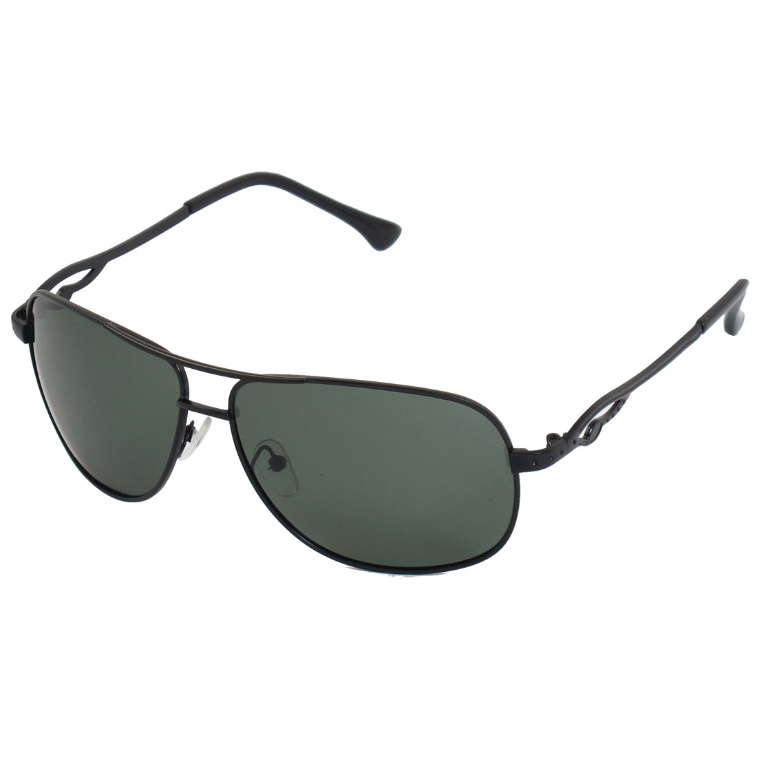 Teardrop Lens Full Rim Driving Polarized Sunglasses Green Black for Men