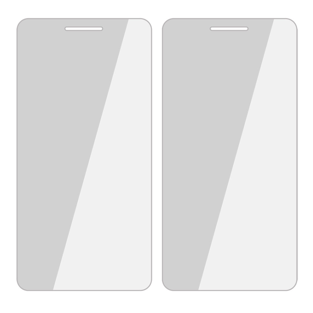 2 Pcs Anti-dust Clear Screen Protector Film Guards for Huawei U9508