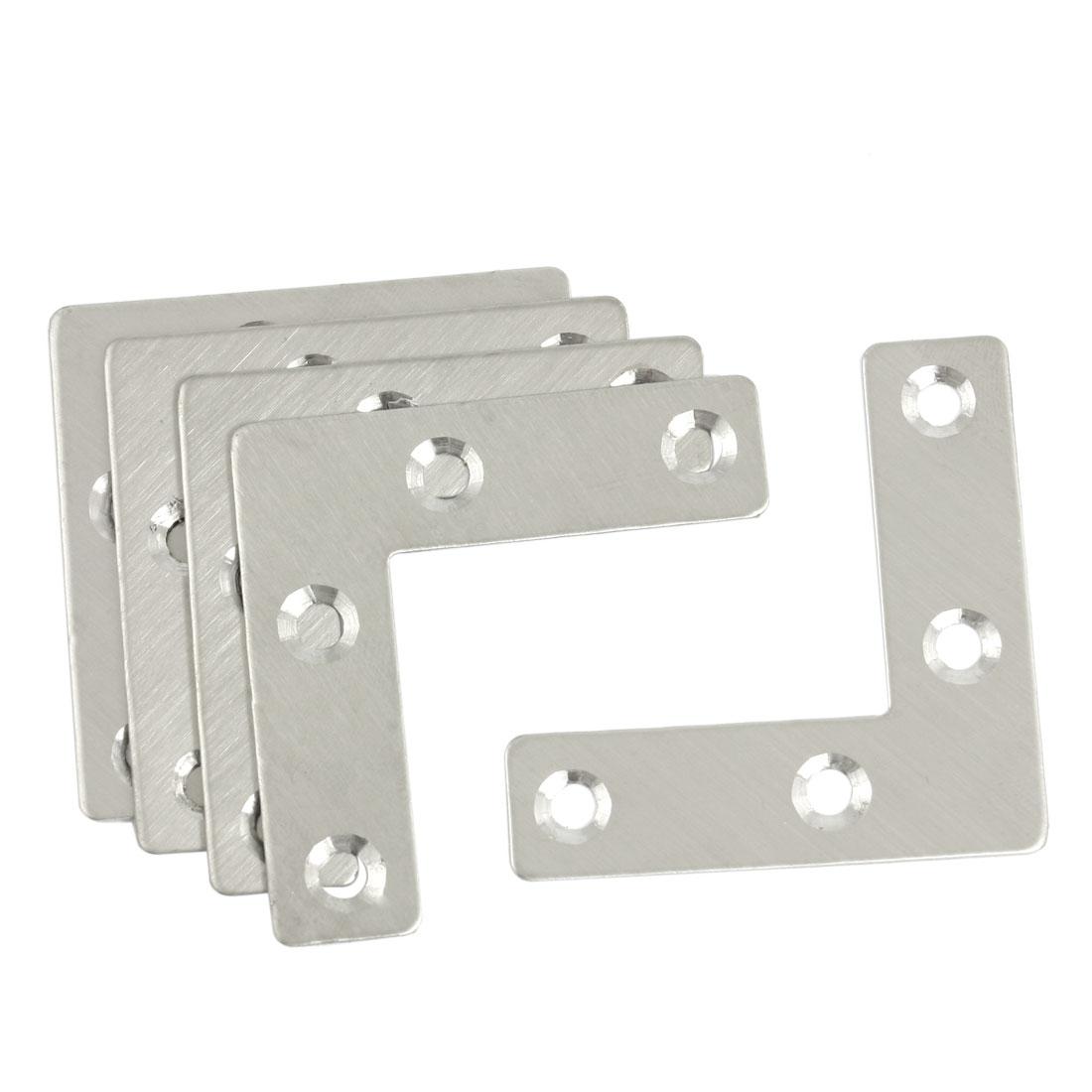 5 Pcs Angle Plate Corner Brace Flat L Shape Repair Bracket 50mm x 50mm