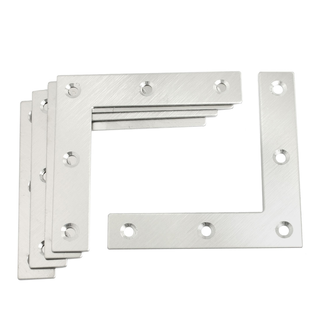5 Pcs Angle Plate Corner Brace Flat L Shape Repair Bracket 80mm x 80mm
