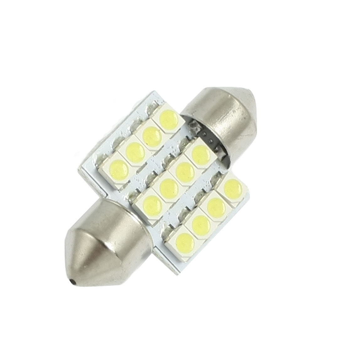 "31mm 12-SMD 1.25"" 12V Festoon Dome Light 3528 1210 LED Bulbs DE3175 DE3022 DE3021 3175"
