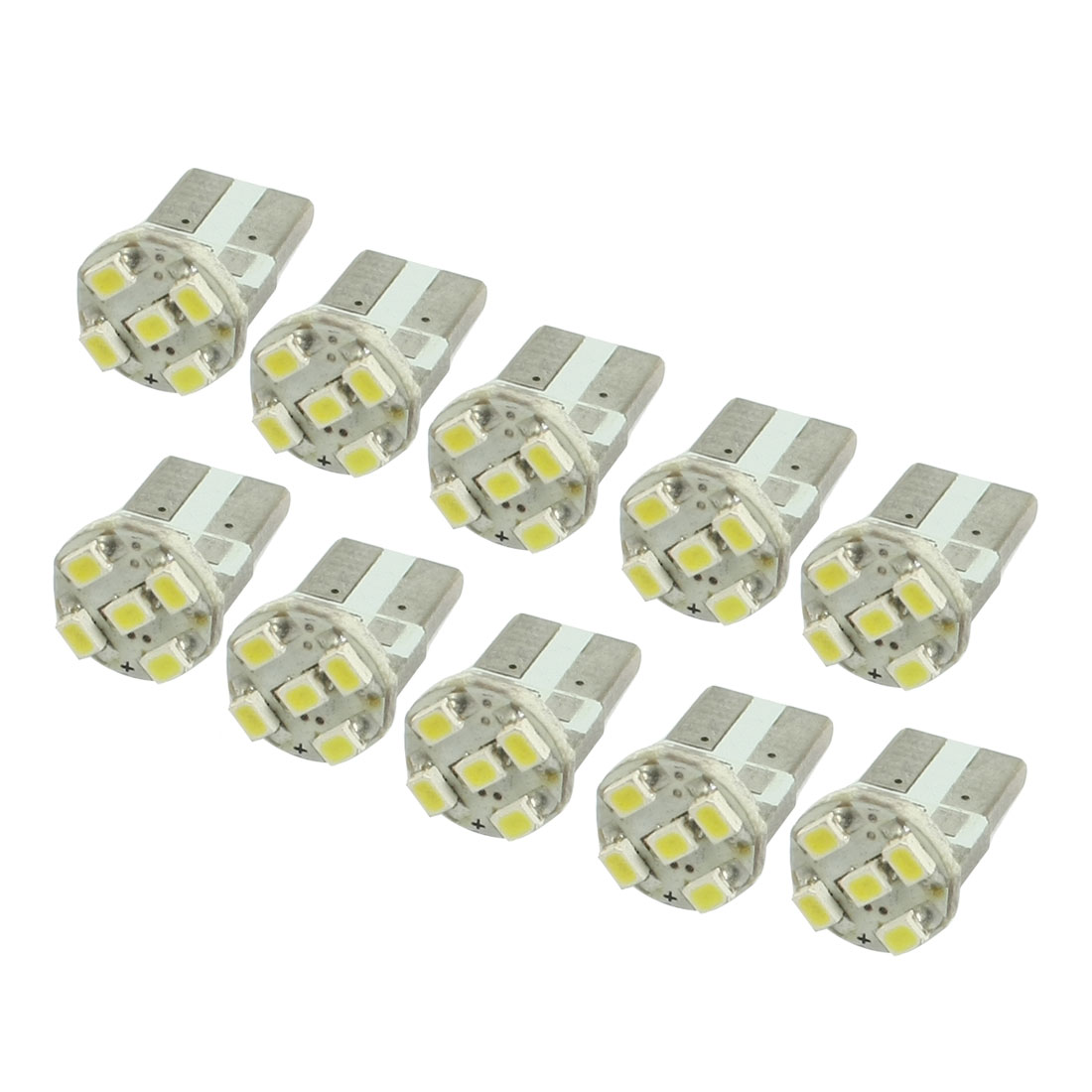 10 Pcs Auto T10 White 1206 5 SMD LED Bulb Light Turning Lamp