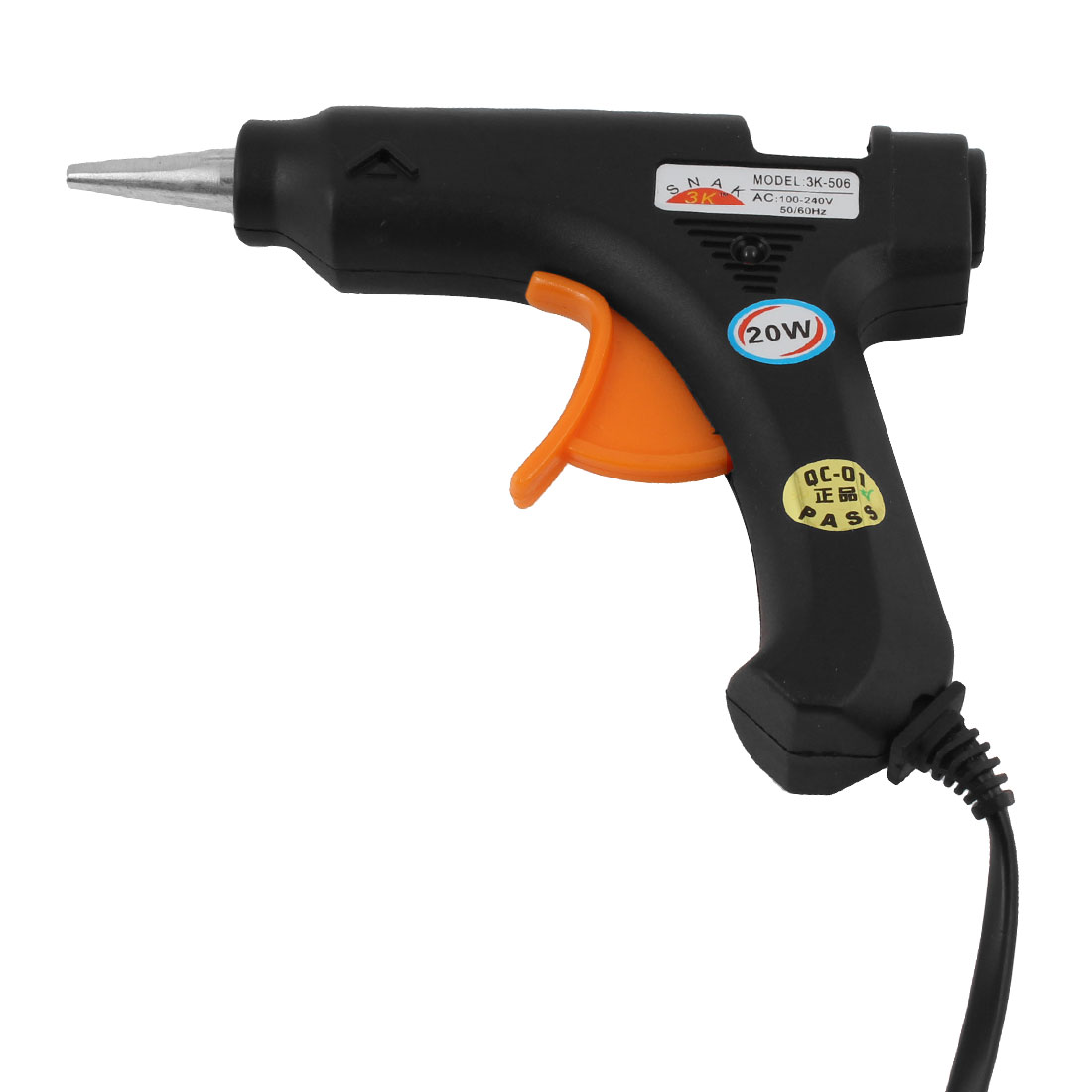 1.24M Cable AC 100-240V 20W Heating Melt Electric Trigger Glue Gun US Plug
