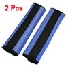 Motor Detachable Fastener Blue Black Seatbelt Cover Pad Pair
