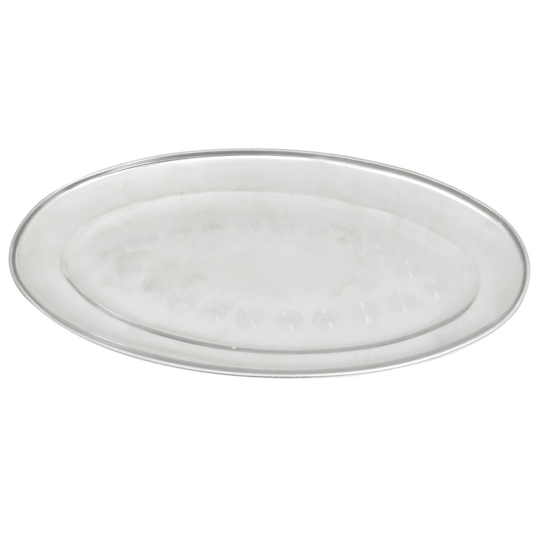 "11.4"" Long Silver Tone Strainless Steel Oval Fish Dish Plate Tray"