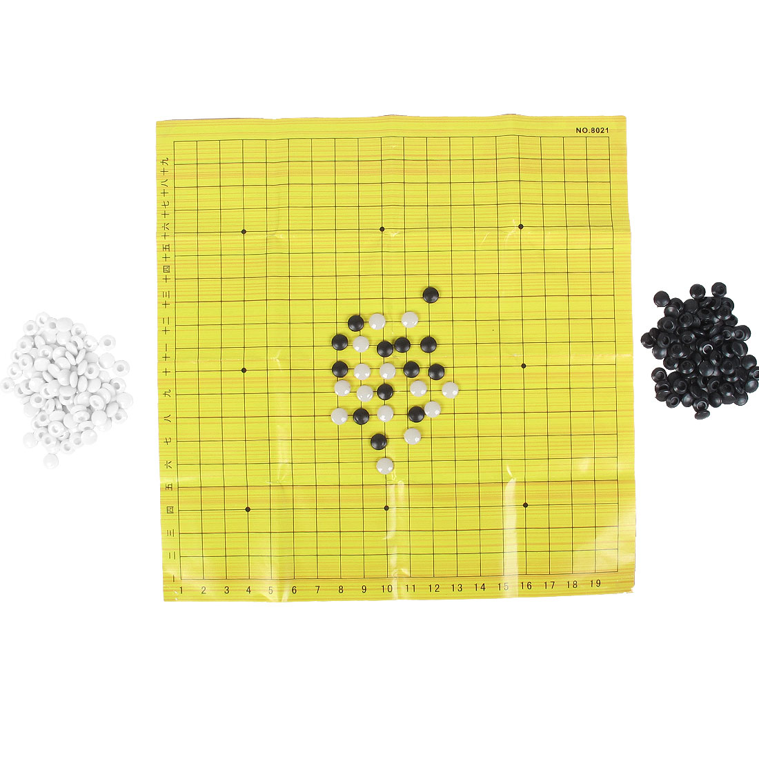 White Black Plastic Pieces Weiqi Chinese Go Chess Set Game