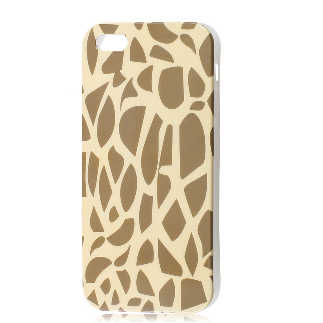 Giraffe Print Beige TPU Soft Protective Case Cover for Apple iPhone 5 5G