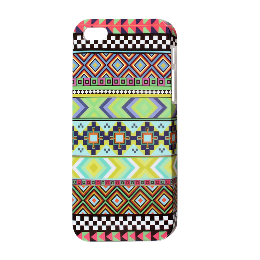 Ethnologic Rhombic Plaid Multicolor IMD Hard Back Case Cover for iPhone 5 5G