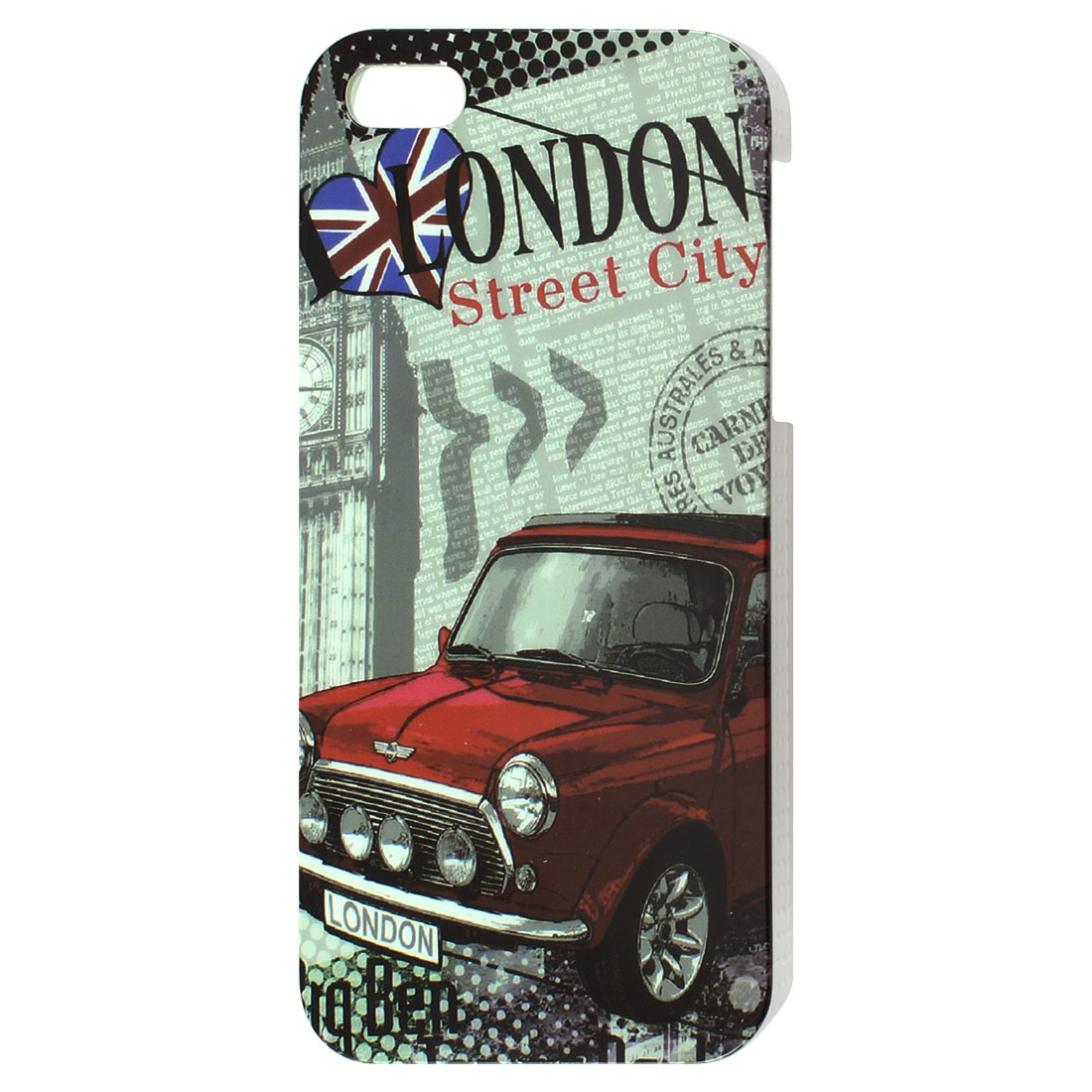 Classic London City Symbol Red Car Hard IMD Back Case Cover for iPhone 5 5G 5th