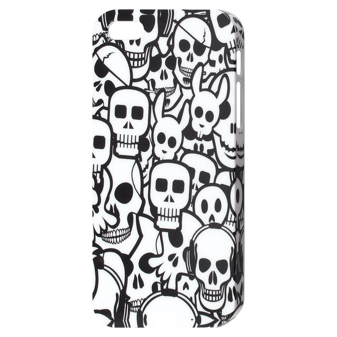 White Skull Pattern IMD Hard Back Case Cover for iPhone 5 5G 5th Gen