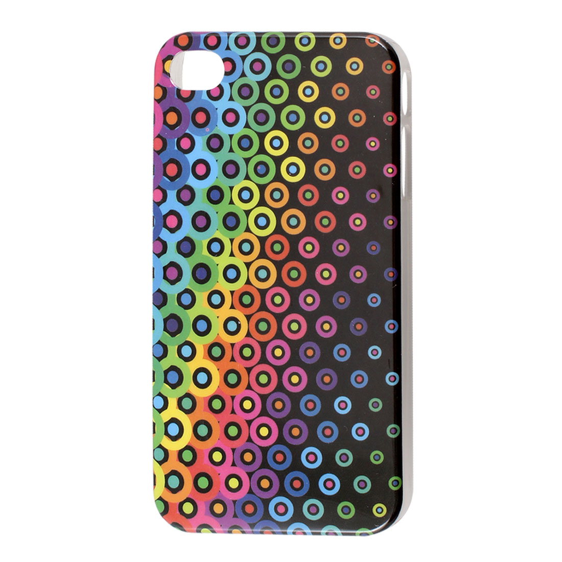 Assorted Color Circle Pattern IMD Hard Back Case Cover for iPhone 4 4G 4S 4GS