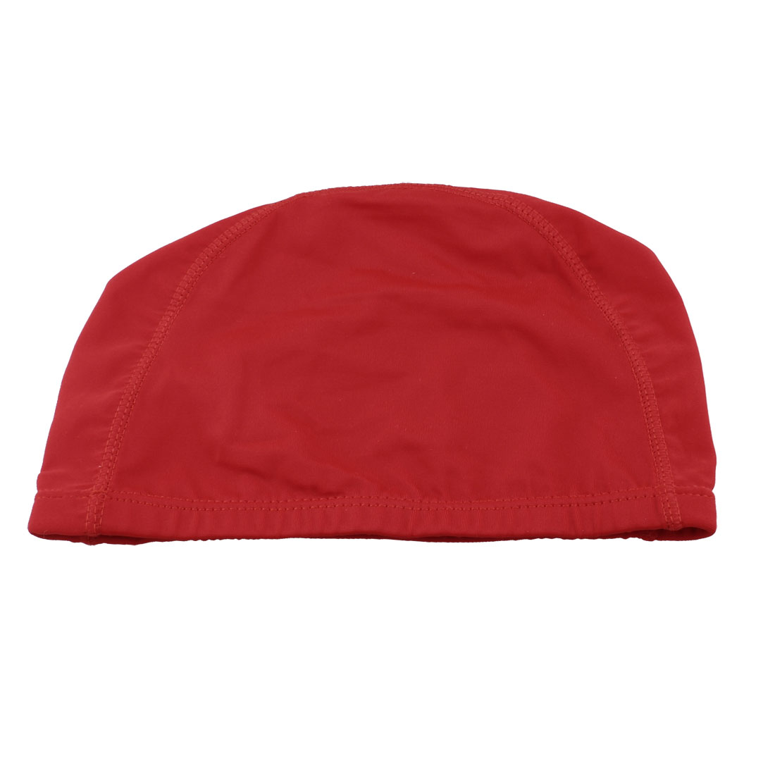 Adults Red Polyester Elastic Fiber Surf Surfing Swimming Cap Hat