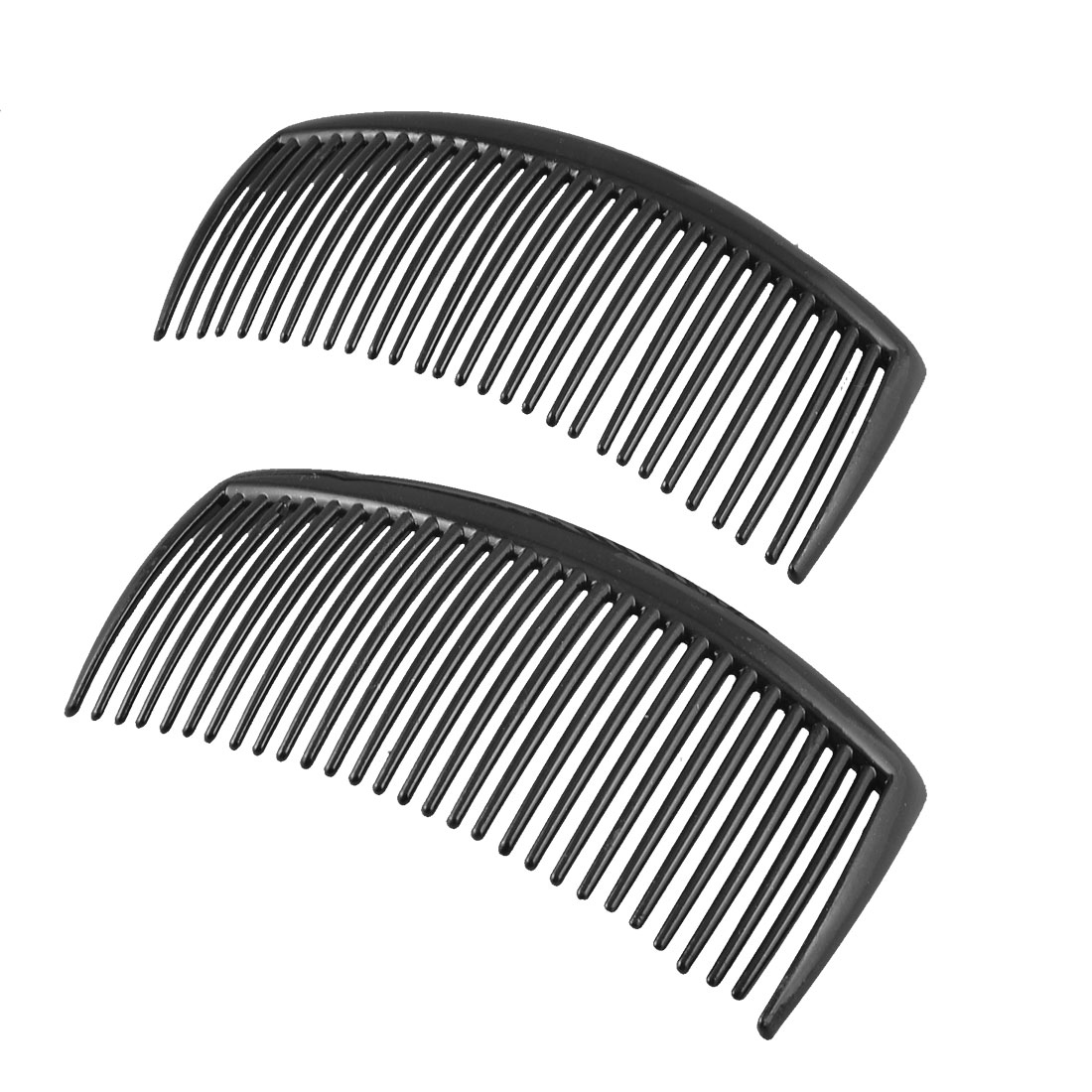 2PCS Black Plastic 29 Teeth Hairstyle Hair Clip Clamp Comb for Ladies
