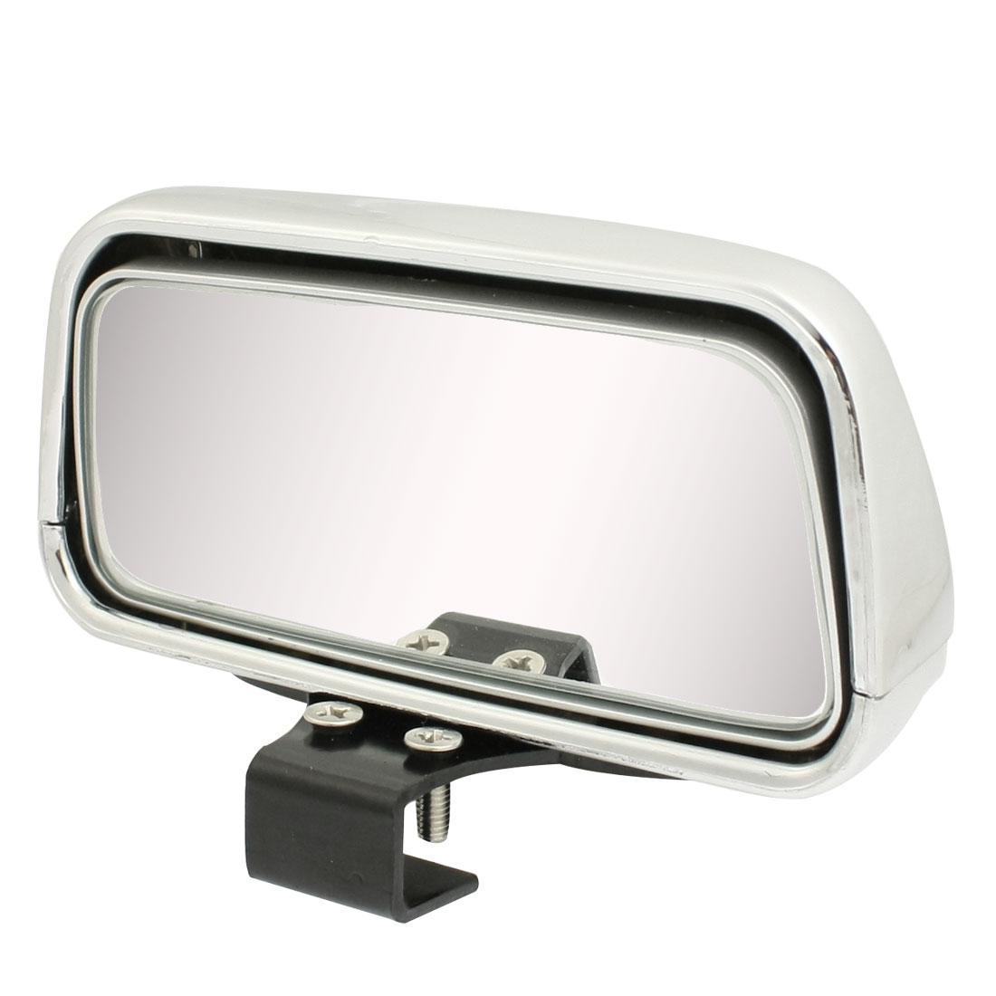 Side Rear View Blind Spot Auxiliary Mirror Silver Tone for Vehicle Car