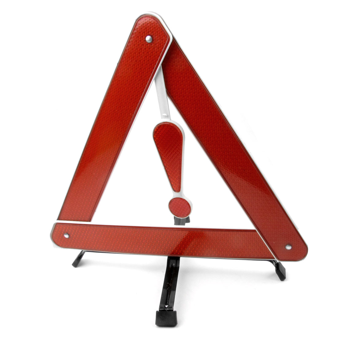 Auto Traffic Red White Foldable Reflecting Warning Triangle Stand Sign w Case