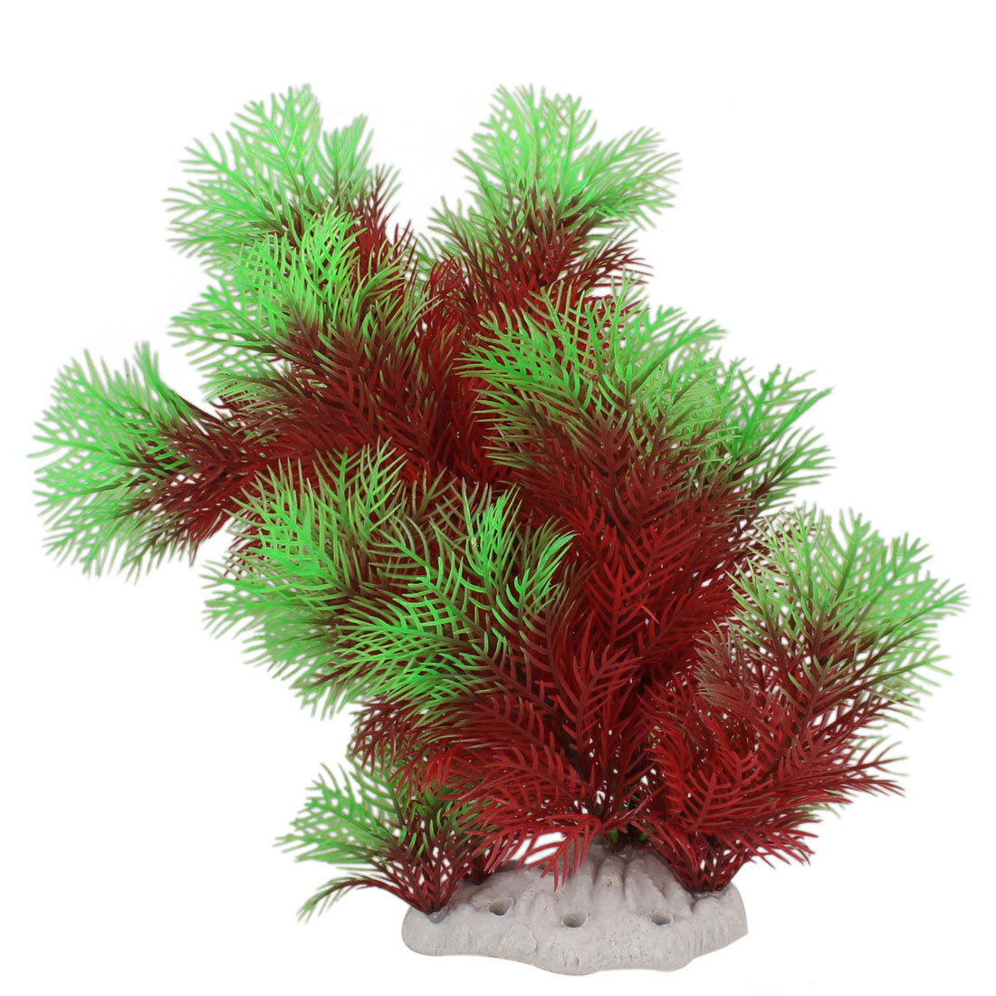 "9.4"" Height Simulation Underwater Red Green Plant Decoration for Fishtank"