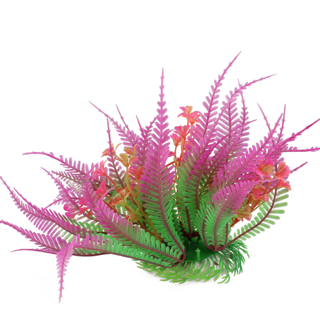 "6.7"" Height Aquarium Fish Tank Decor Plastic Aquascaping Plant Grass Green Fuchsia"