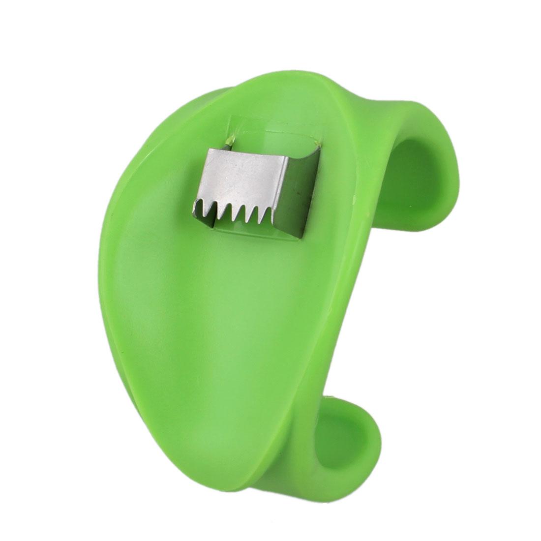 Green Plastic Silver Tone Metal Mini Corn Stripper