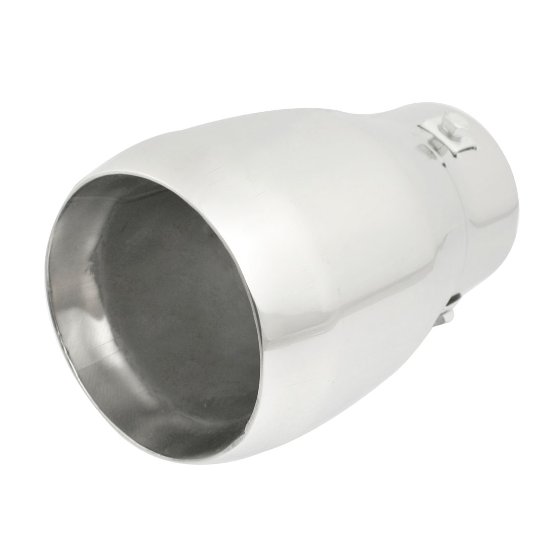 Stainless Steel 74mm Inlet Round Exhaust Muffler Tip Replacement