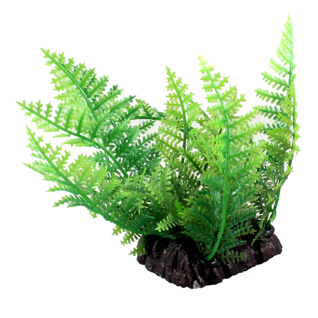 "Aquarium Decoration 3.9"" Height Green Leaf Artificial Underwater Plant"