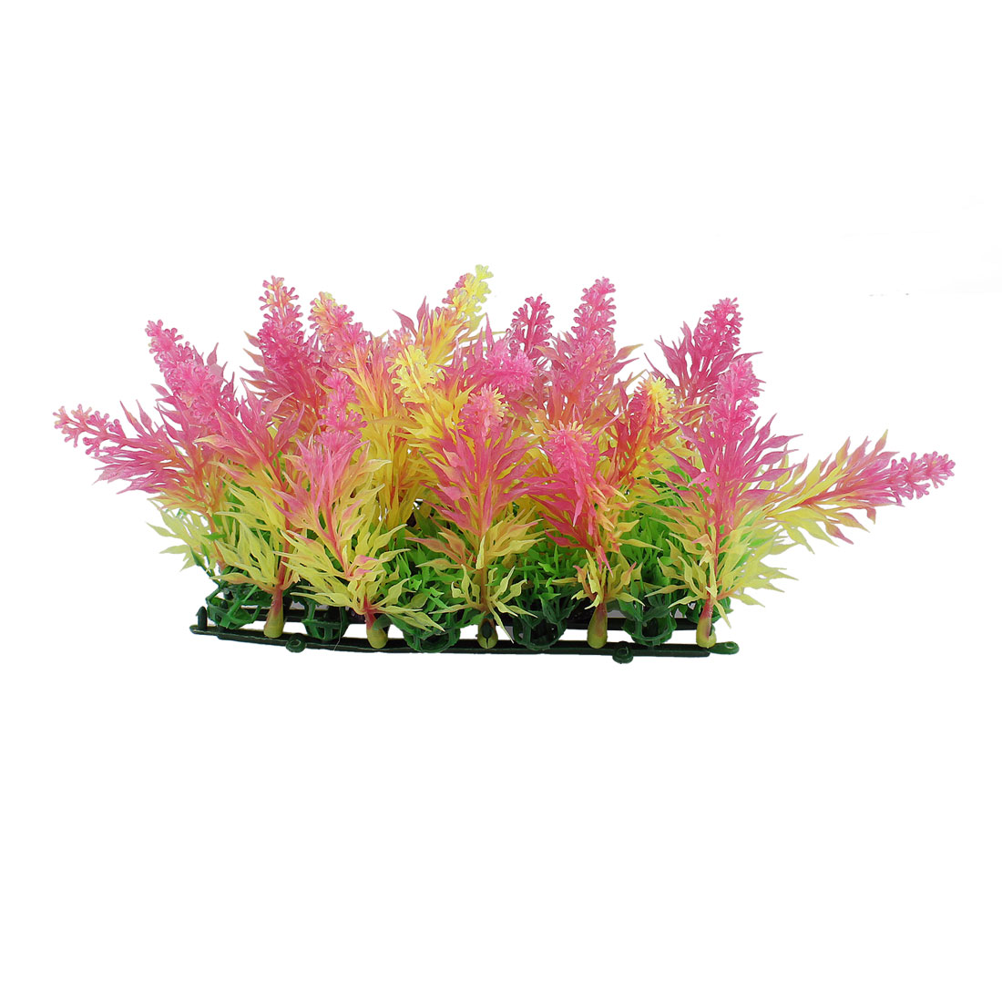 "Aquarium Decoration 5.5"" Height Pink Yellow Leaf Artificial Underwater Plant"