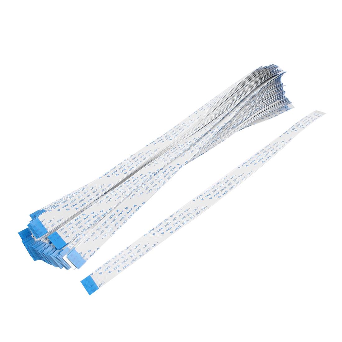 100 Pcs 24 Pins AWM 20624 80C 60V 0.5mm Pitch Flexible Flat Cable FFC 250mm
