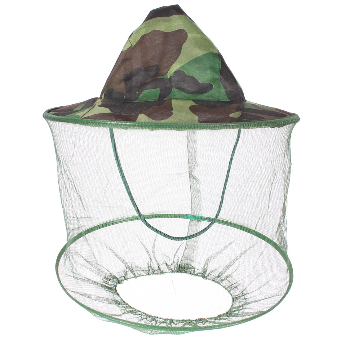 Army Green Camouflage Prints Mesh Veil Hood Anti Mosquito Fishing Protect Hat