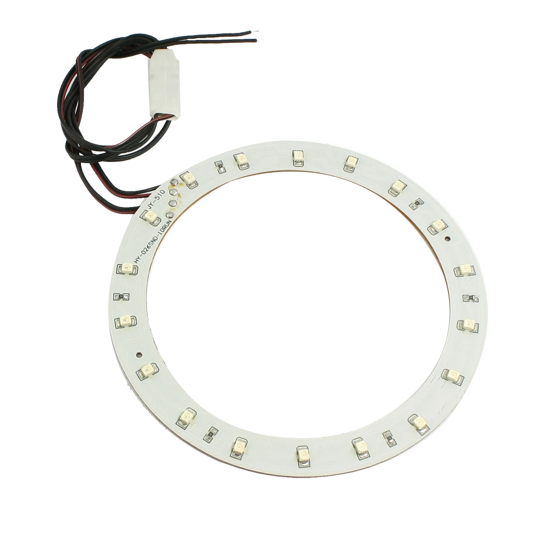 Flash Green 1210 SMD 18 LED Vehicle Auto Car Light Lamp Angel Eye Ring Decor
