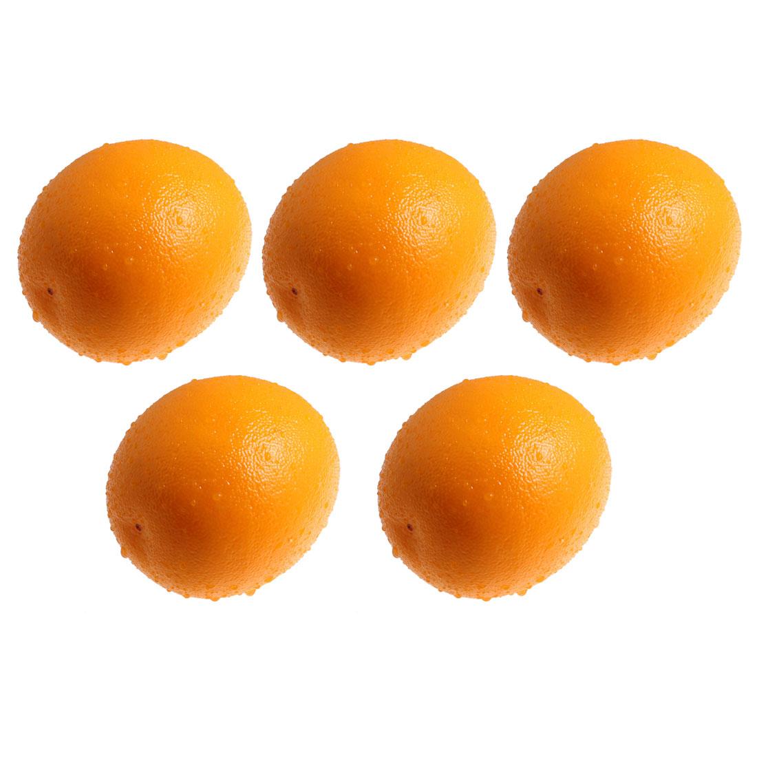 5 Pcs Foam Simulated Orange Ornament Cabinet Table Desk Display Fruit