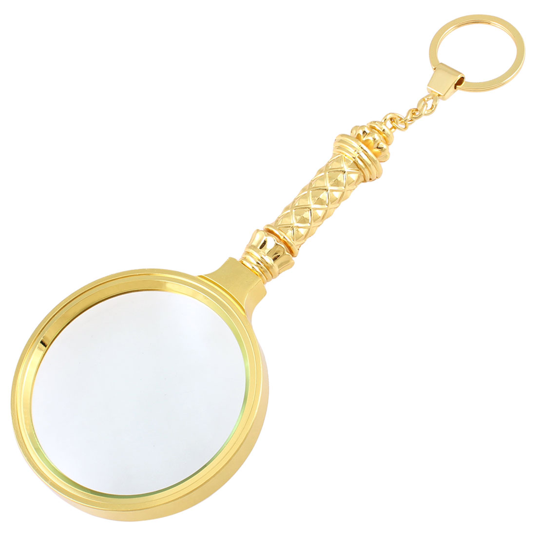 Detachable Grip Metal Ring 67mm Dia.Lens 4X Handheld Magnifier Magnifying Glass