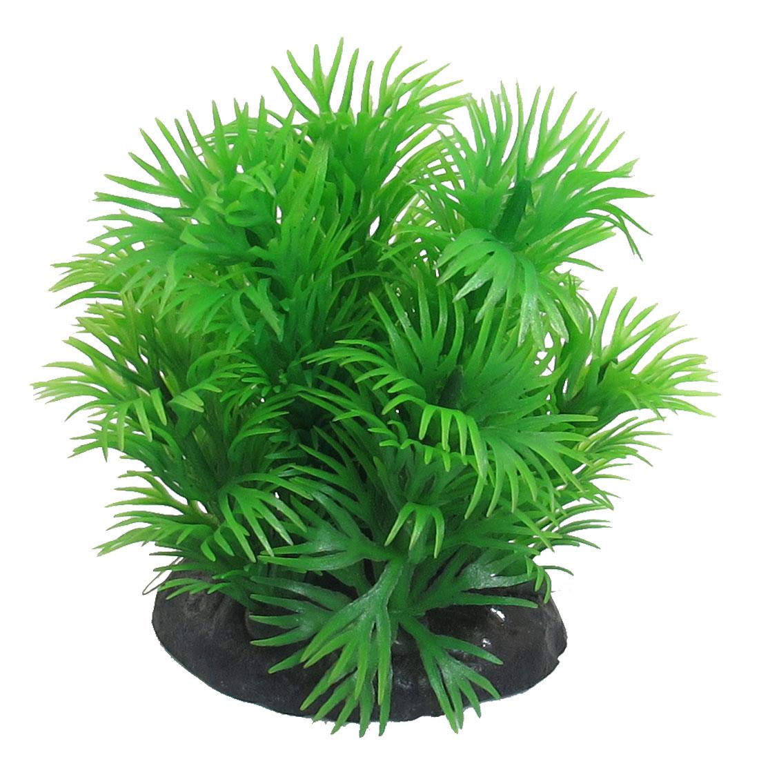 Aquarium Artificial Plastic Grass Plant Decoration Green 8cm