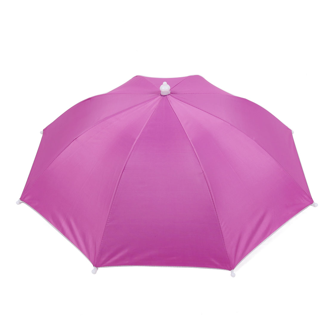 Pink Headwear Polyester Canopy Umbrella Hat for Fishing
