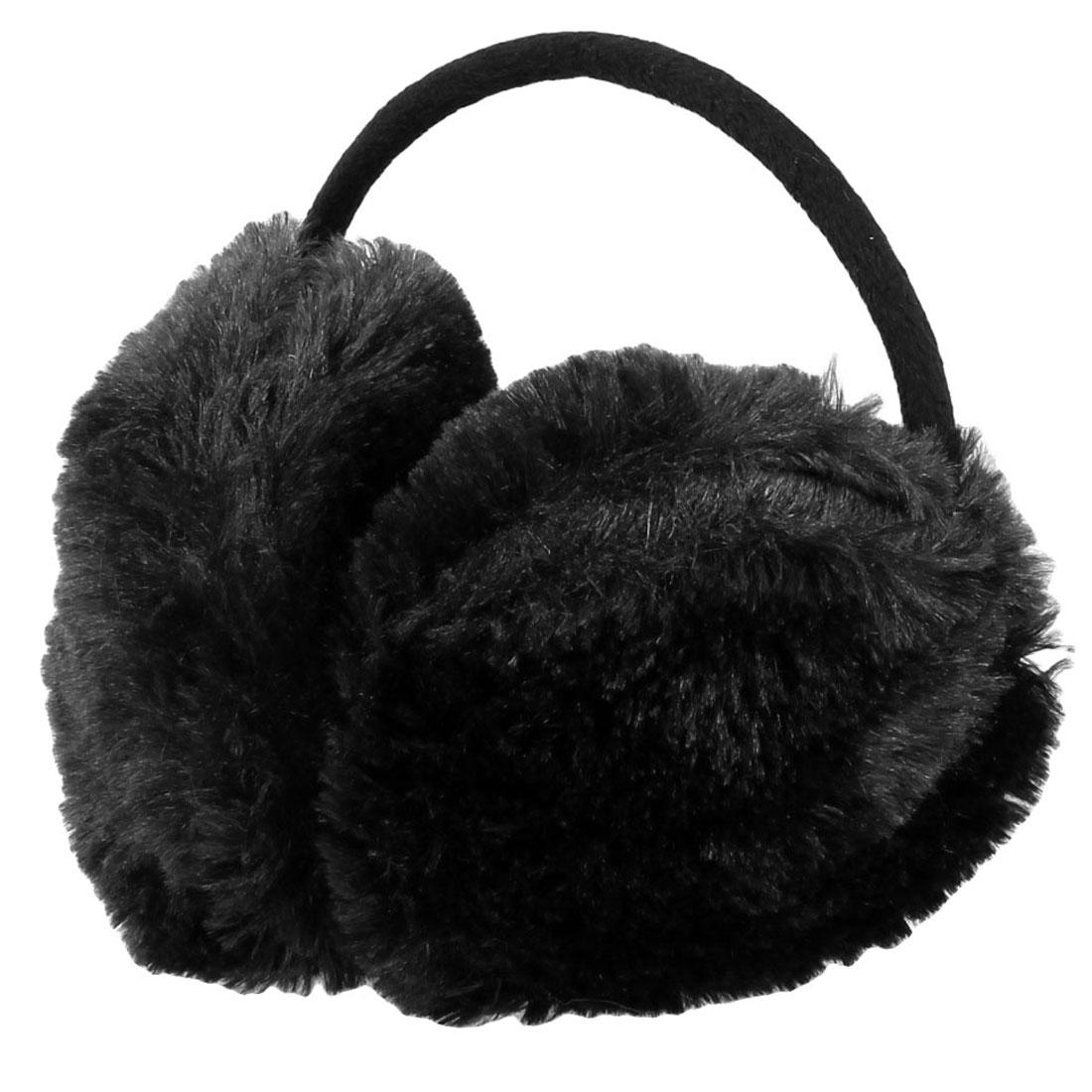 Children Winter Headwear Plush Back Ear Warmer Earmuffs Black