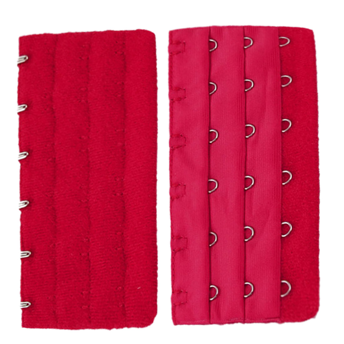 Lady Red Three Rows Hooks Eye Tape Bra Strap Extender 3 Pcs