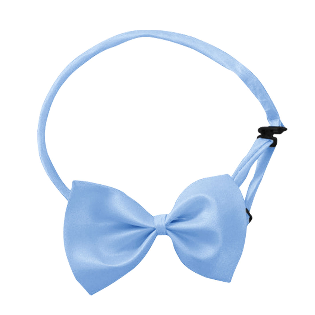 Men Boys Cornflower Blue Adjustable Bowknot Pre Tied Bowtie