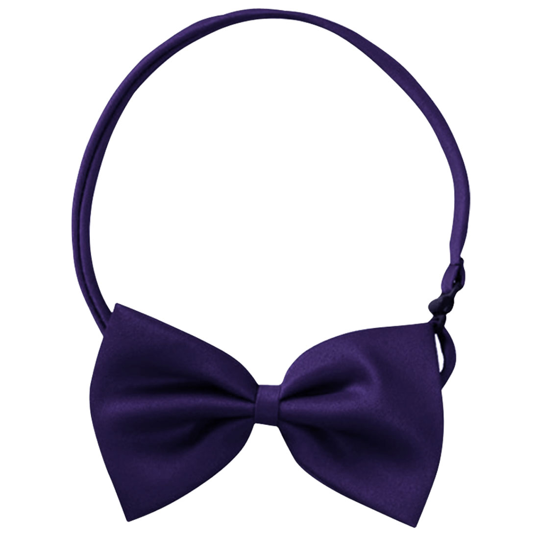 Mens Purple Stylish Prom Party Regulable Bowknot Bow Tie