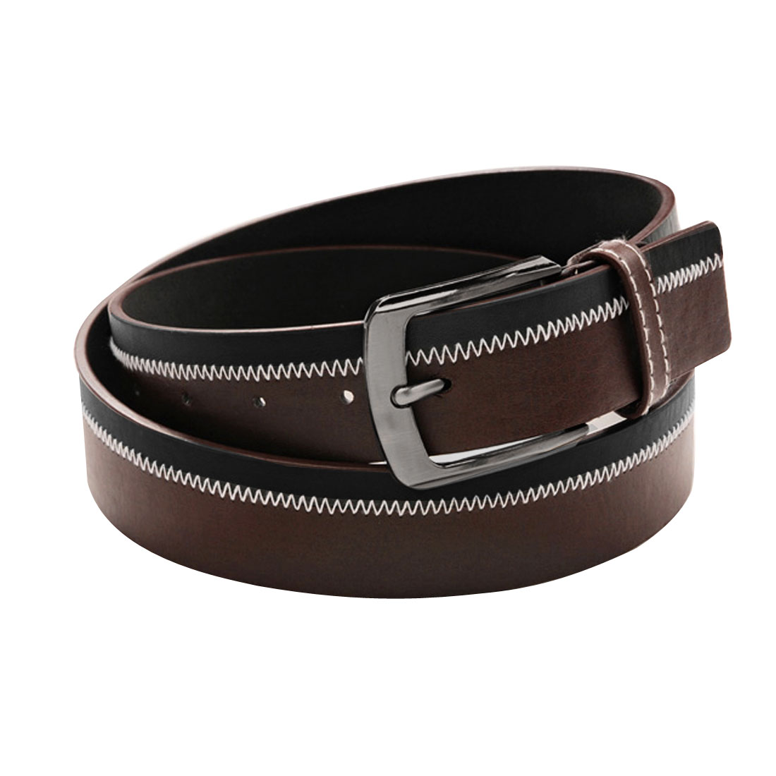 Mens Adjust 46 inches Length Fashion Coffee Color Black Waistbelt