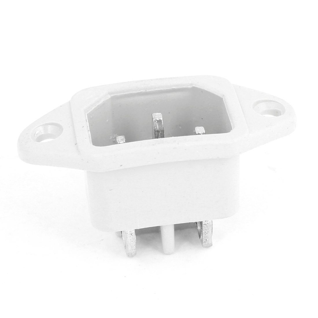 AC 250V 10A 3 Terminals C14 Male Power Inlet Socket Connector White