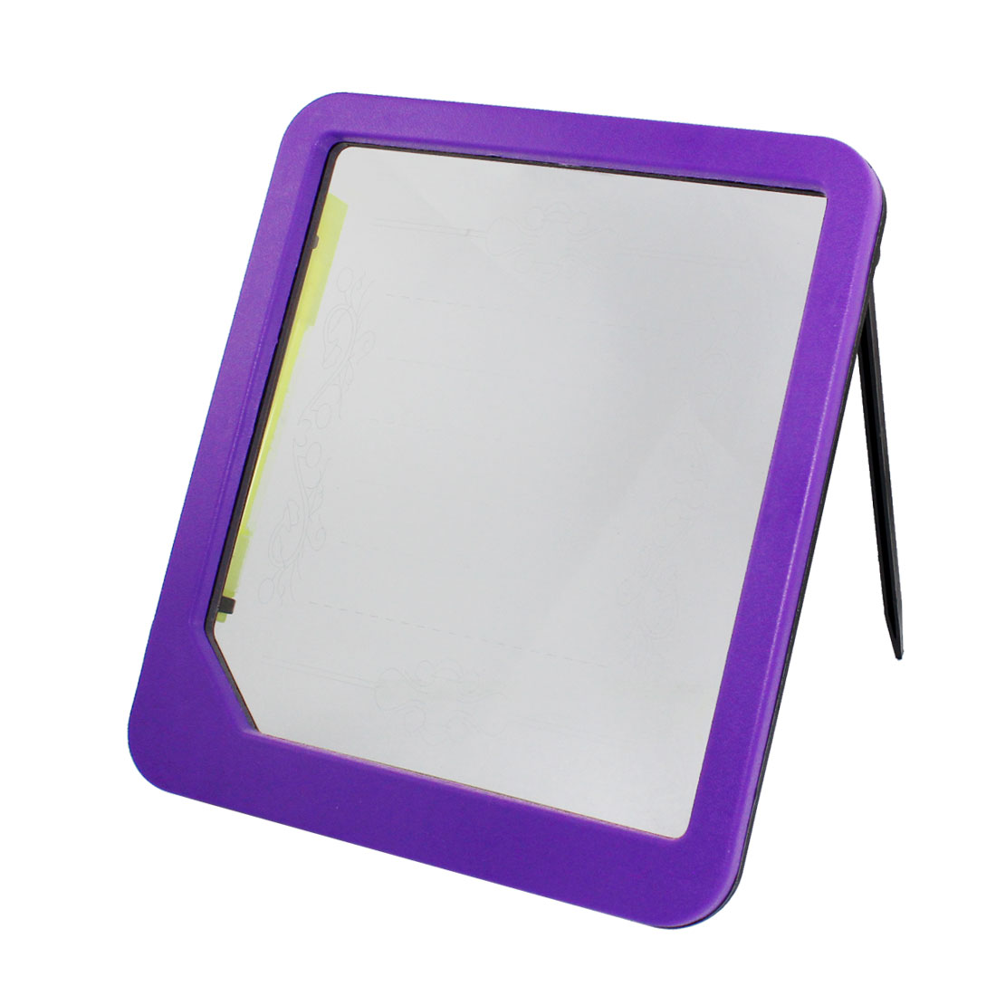 Purple Plastic Frame Illuminated Screen LED Message Memo Board w Marking Pen