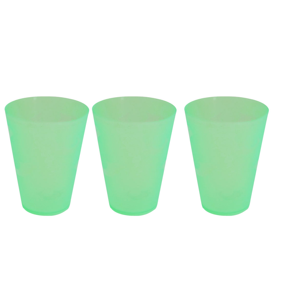 4 Pcs Travel Green Plastic Dolphins Pattern Water Cup Mug