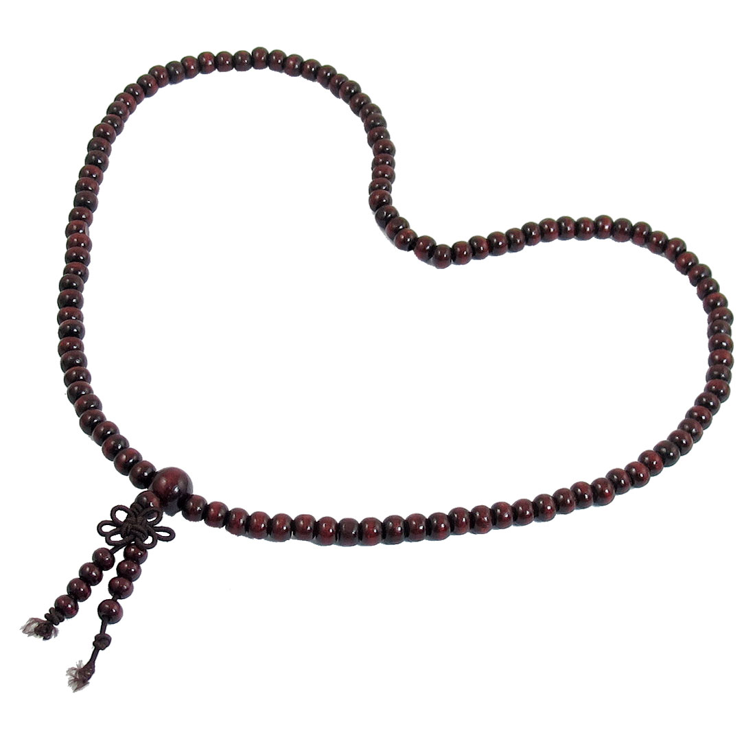 Dark Brown Sandalwood Prayer Beads Buddha Buddhist Mala Necklace 48cm