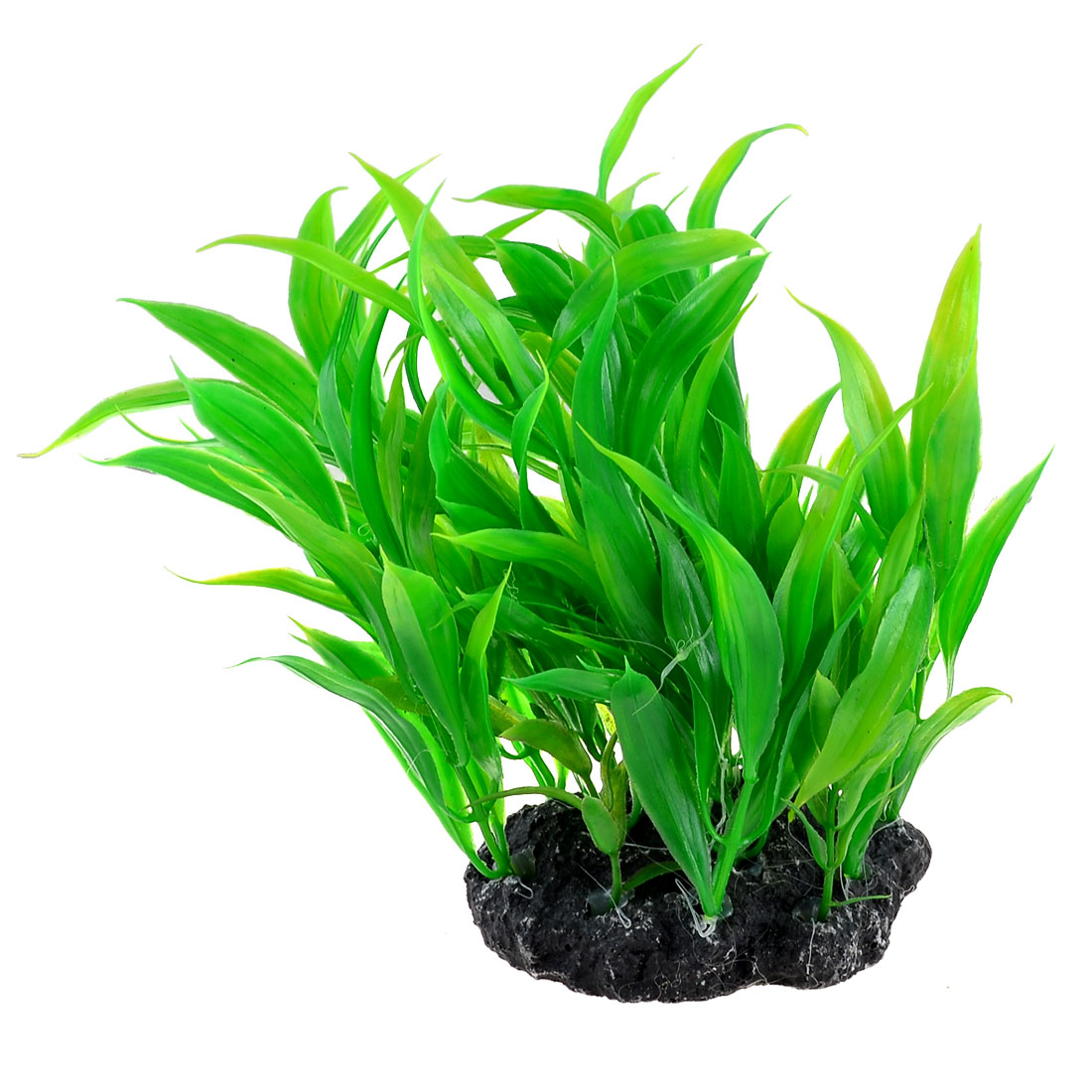 "5.9"" Height Green Plastic Aquatic Grass Plant for Aquarium Fish Tank"