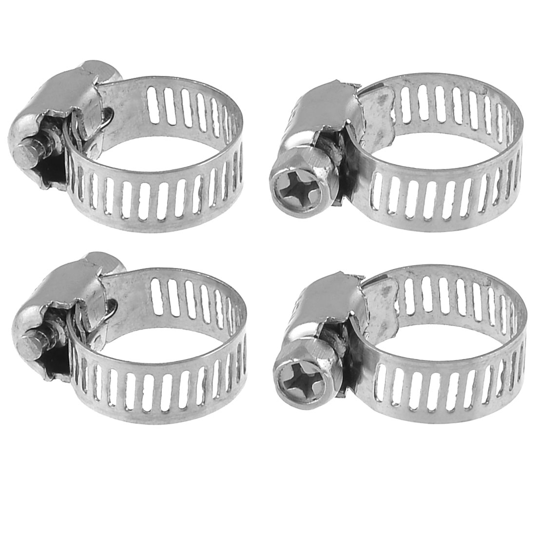 5 Pcs 9mm-16mm Range Metal Hose Clamps Gator for Worm Drive